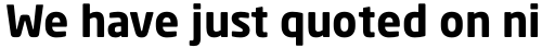 Neo Sans Bold sample