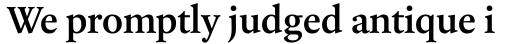 Laurentian Semi Bold sample
