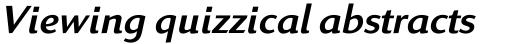 Linex Sans Italic sample