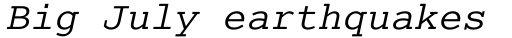 Cumberland Std Italic sample