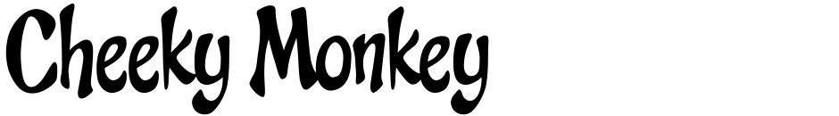 Click to view  Cheeky Monkey font, character set and sample text