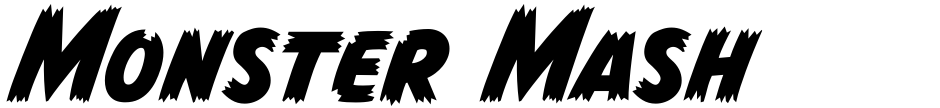 Click to view  Monster Mash font, character set and sample text