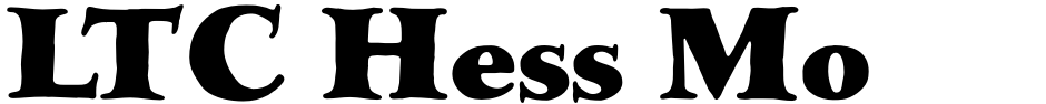 Click to view  LTC Hess Monoblack font, character set and sample text