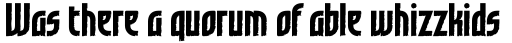 Grafilone Bold sample
