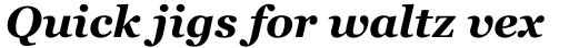 Georgia Bold Italic sample