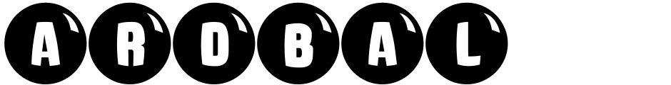 Click to view  Ardball JNL font, character set and sample text