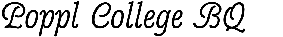 Click to view  Poppl College BQ font, character set and sample text