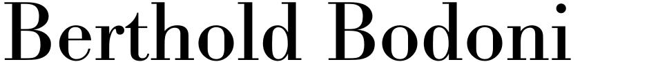 Click to view  Berthold Bodoni Antiqua BQ font, character set and sample text