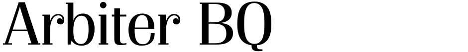 Click to view  Arbiter BQ font, character set and sample text