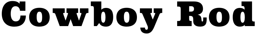 Click to view  Cowboy Rodeo font, character set and sample text