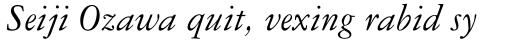 Garamond Three Italic sample