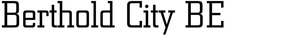 Click to view  Berthold City BE font, character set and sample text