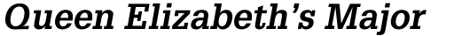 Glypha Bold Oblique sample