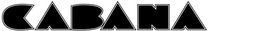 Click to view  Cabana Club JNL font, character set and sample text
