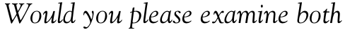 Goudy Italic sample