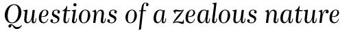 Bohemia Std Italic sample
