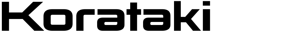 Click to view  Korataki font, character set and sample text