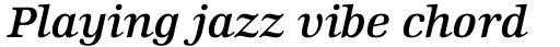 Edison Pro Semi Bold Italic sample