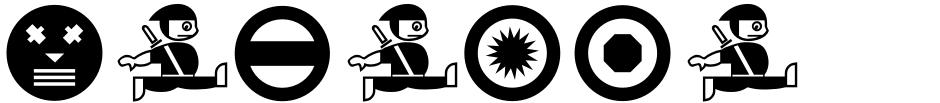 Click to view  HaManga Irregular font, character set and sample text