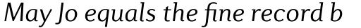 Diverda Sans Std Light Italic sample