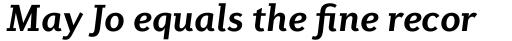 Diverda Serif Std Bold Italic sample