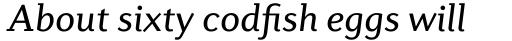 Diverda Serif Std Italic sample