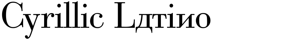Click to view  Cyrillic Latino font, character set and sample text