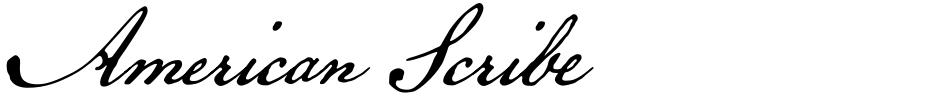 Click to view  American Scribe font, character set and sample text