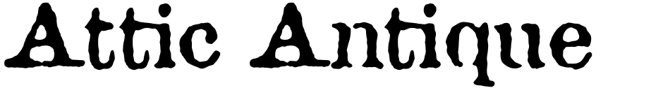 Click to view  Attic Antique font, character set and sample text