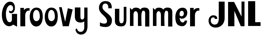 Click to view  Groovy Summer JNL font, character set and sample text