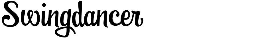 Click to view  Swingdancer font, character set and sample text