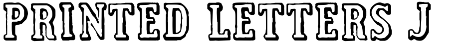 Click to view  Printed Letters JNL font, character set and sample text