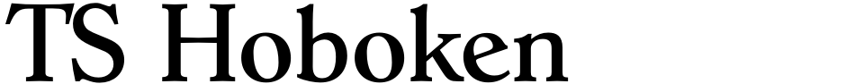 Click to view  TS Hoboken font, character set and sample text