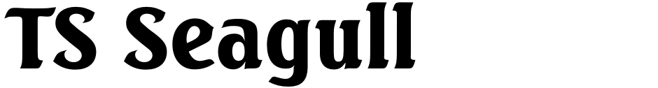 Click to view  TS Seagull font, character set and sample text