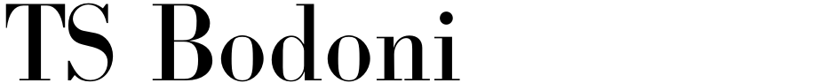 Click to view  TS Bodoni font, character set and sample text