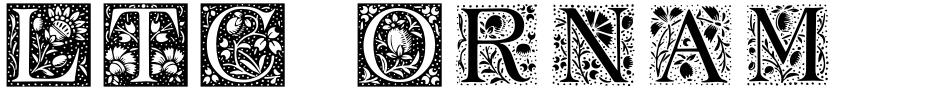 Click to view  LTC Ornamental Initials font, character set and sample text