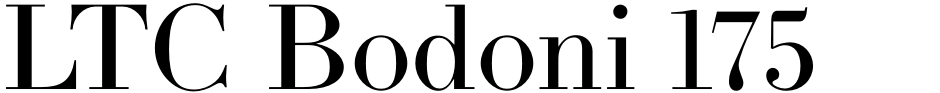 Click to view  LTC Bodoni 175 font, character set and sample text
