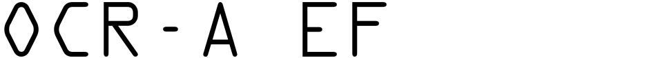 Click to view  OCR-A EF font, character set and sample text