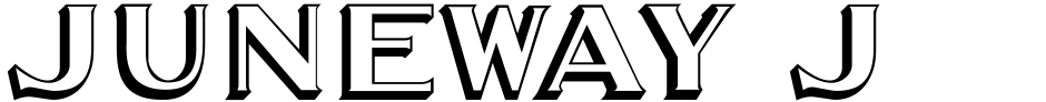 Click to view  Juneway JNL font, character set and sample text