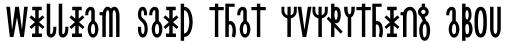 Linotype Cethubala Regular sample