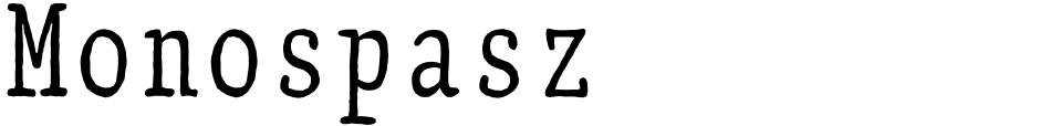 Click to view  Monospasz font, character set and sample text