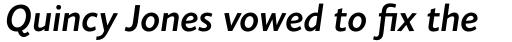 Elisar DT SemiBold Italic sample