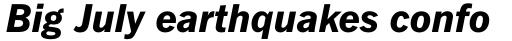Fuller Sans DT ExtraBold Italic sample