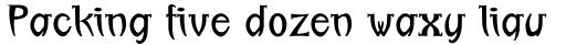 Linotype Boundaround Regular sample