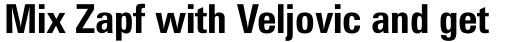 Zurich Condensed Bold sample