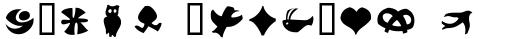 Frutiger Symbols Positiv1 sample