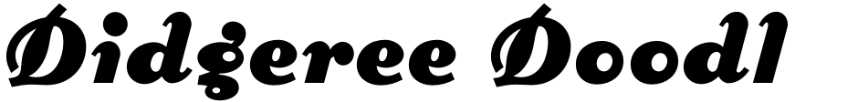 Click to view  Didgeree Doodle NF font, character set and sample text
