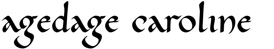 Click to view  Agedage Caroline font, character set and sample text