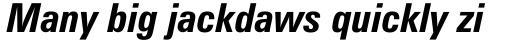 Zurich Condensed Bold Italic sample