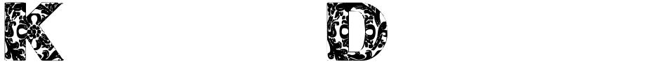 Click to view  Kansas Decorative font, character set and sample text
